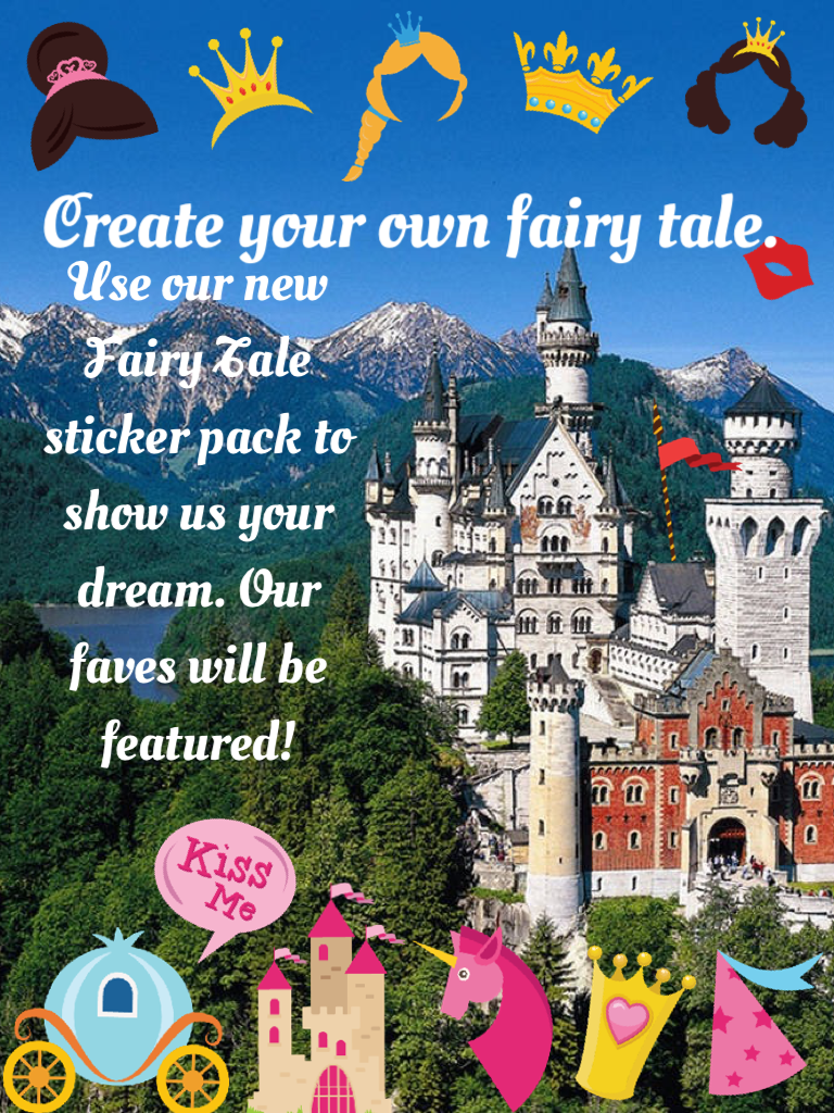 Create your own fairy tale with our new stickers! 👑🐸🏰