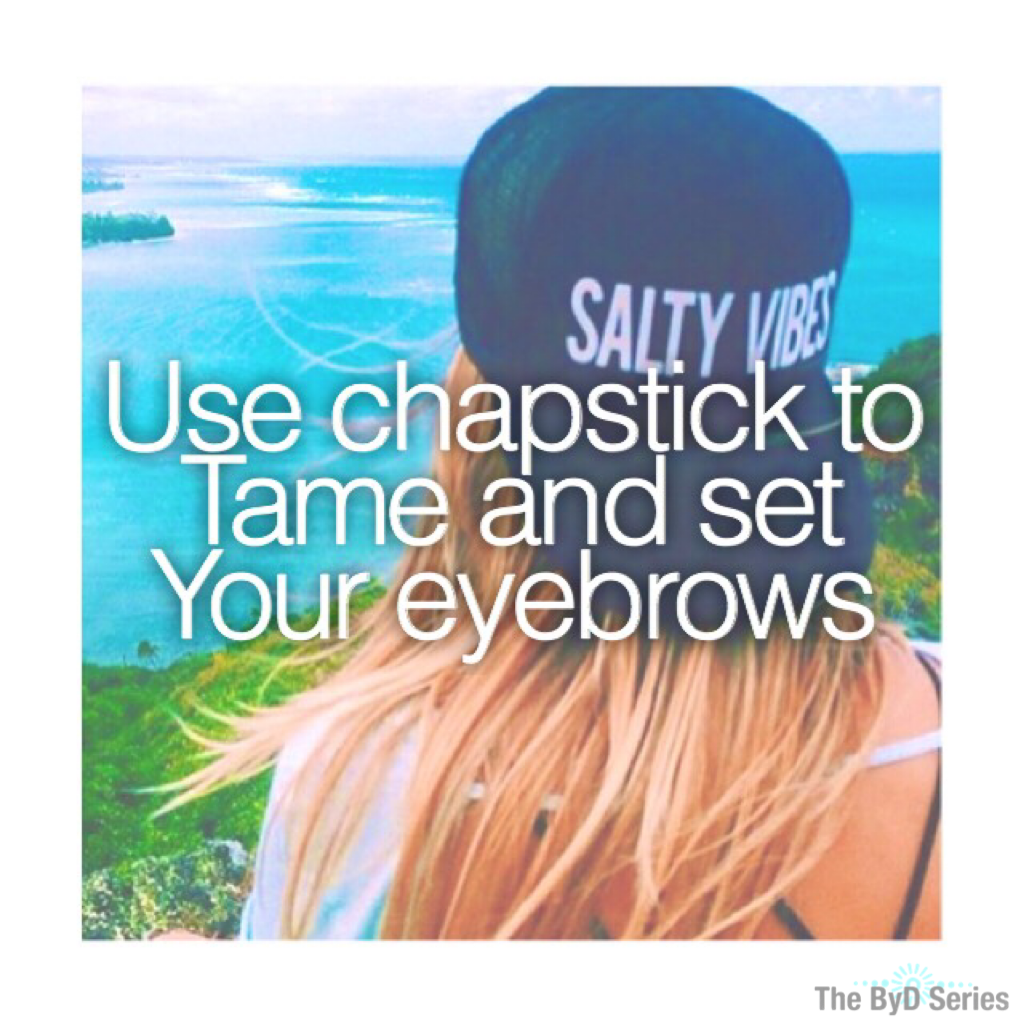 BROW TIP😂✔️ #mylife-5evertipcreds 7/14/16 💛 Snapchat Acc: itsfashionbyd 💛 💙 Polyvore Acc: itsfashionbyd  💙  💙 Pinterest Acc: itsFashionByD 💙