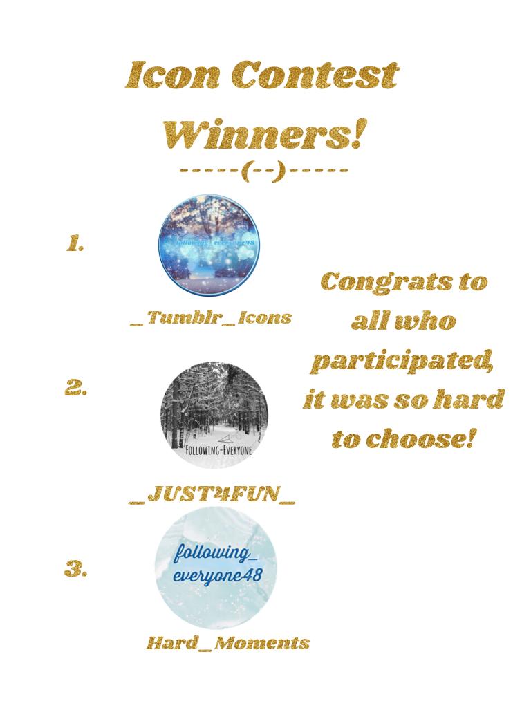 Icon Contest Winners!