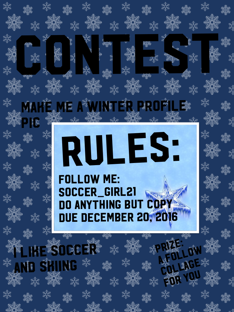 Contest. Due on December 20