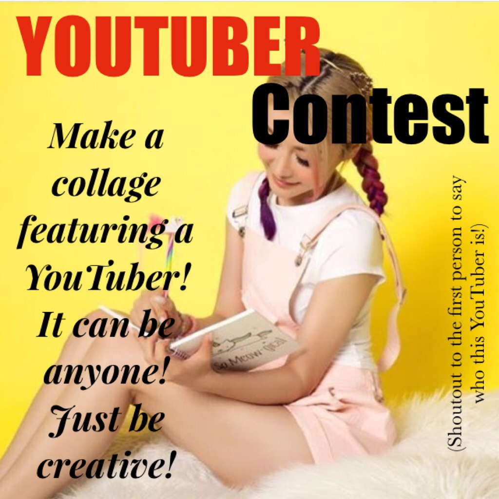 Shout out if you know the YouTuber! Please enter!