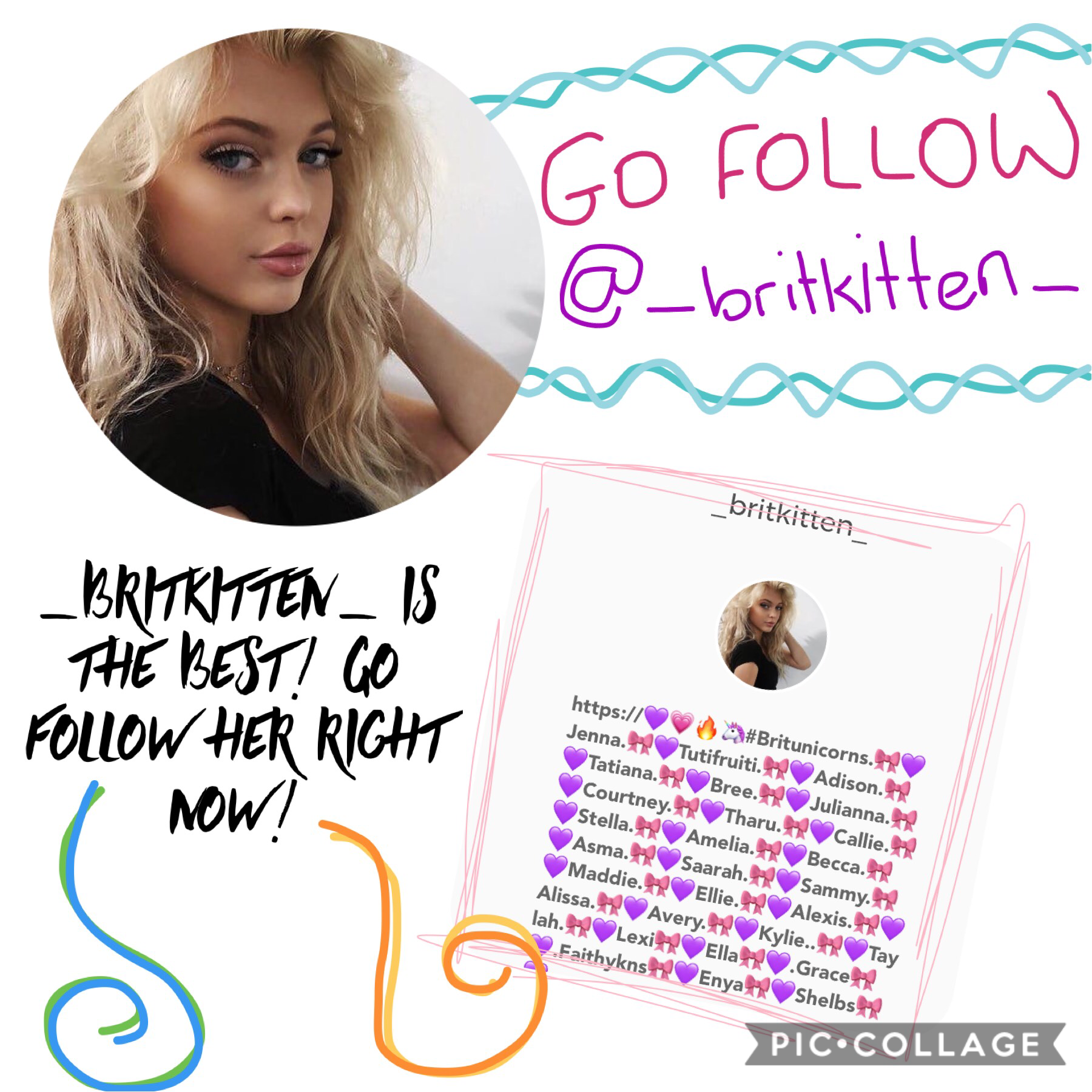 Go follow her right now!