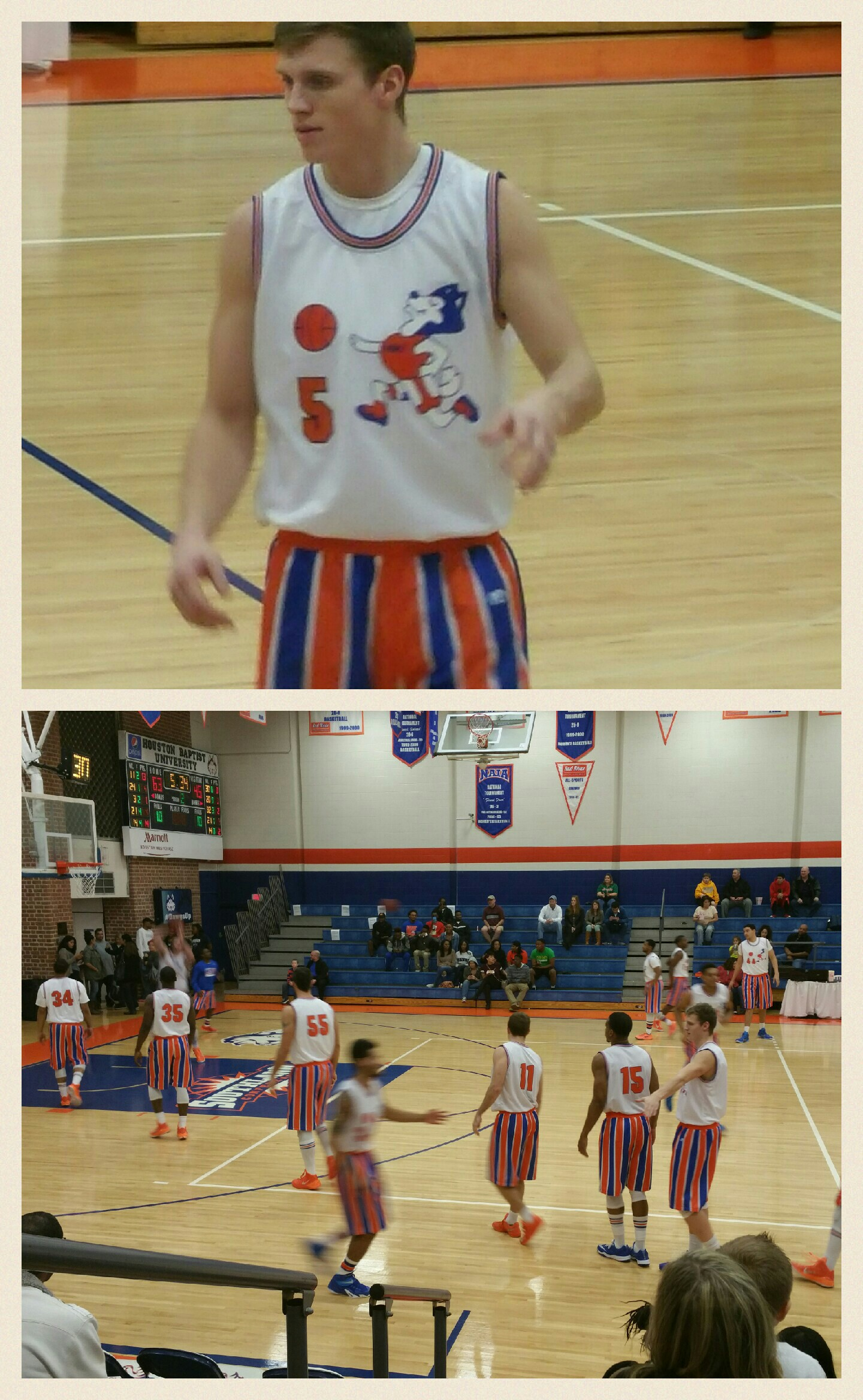 Houston Baptist just came out wearing the greatest uniforms ever as they salute their teams of the 60's and 70's.