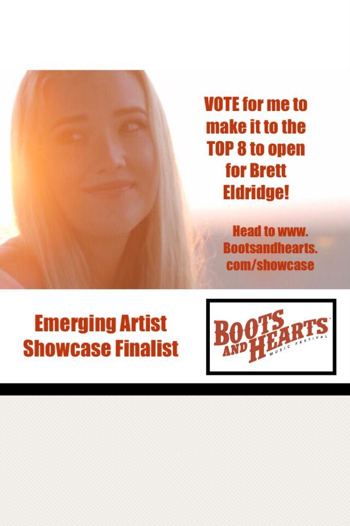 Emerging Artist Showcase Finalist please vote!
