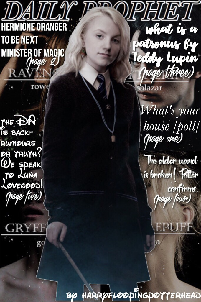❤️tap and then check remixes❤️ 'nox' ✨harryfloopingpotterhead✨ ❤️qotp- The Daily Prophet or The Quibbler?❤️