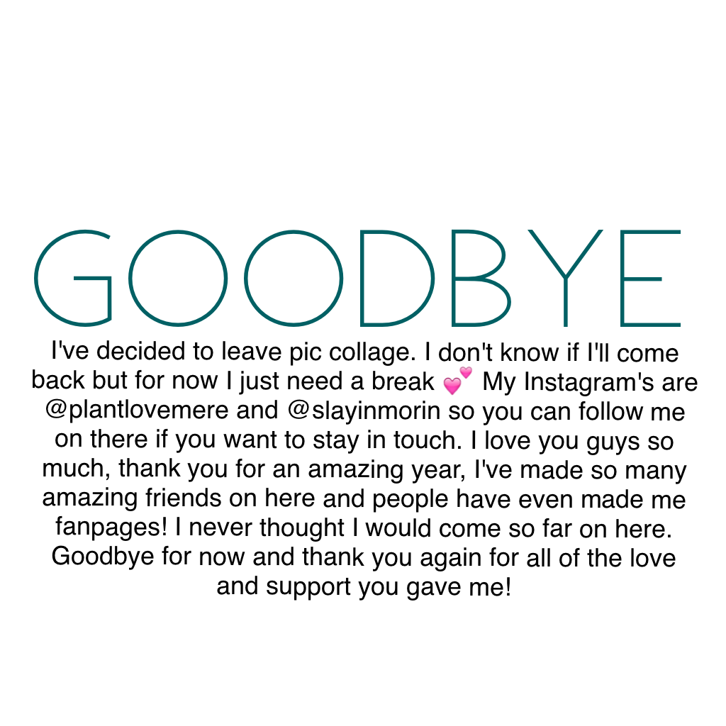 I'll miss you guys sm