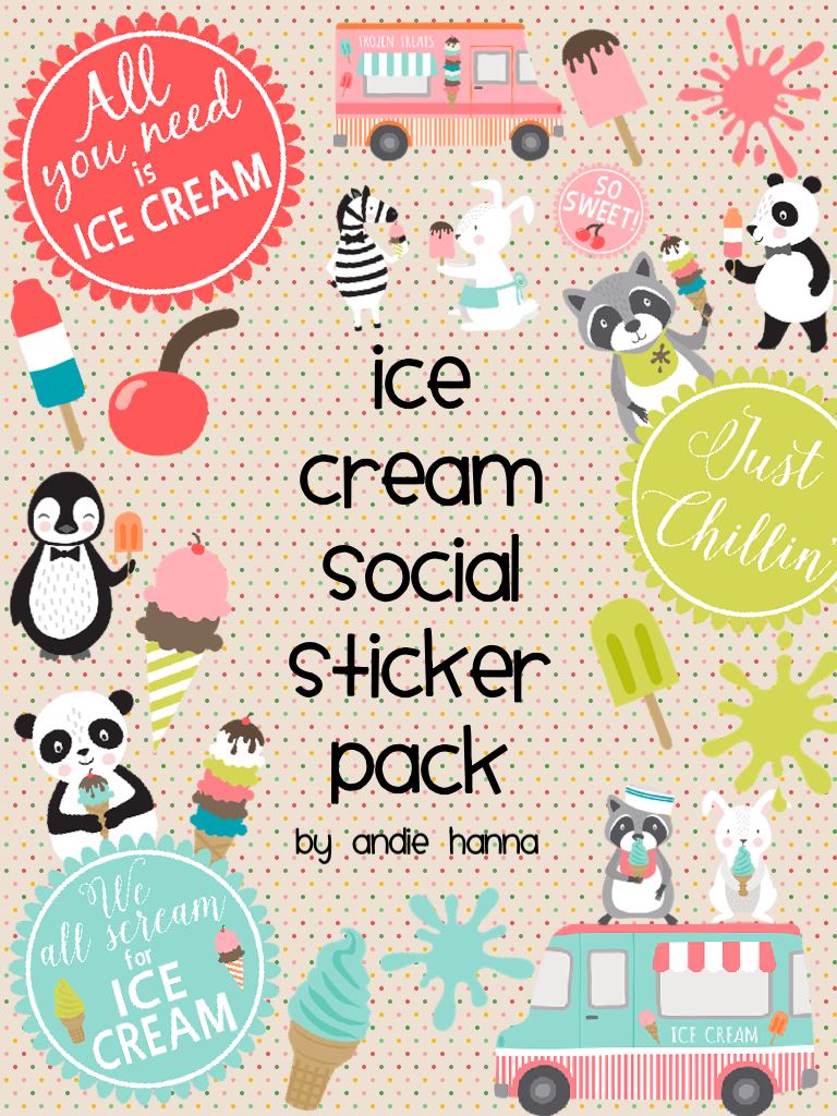 Ice Cream Social sticker pack!