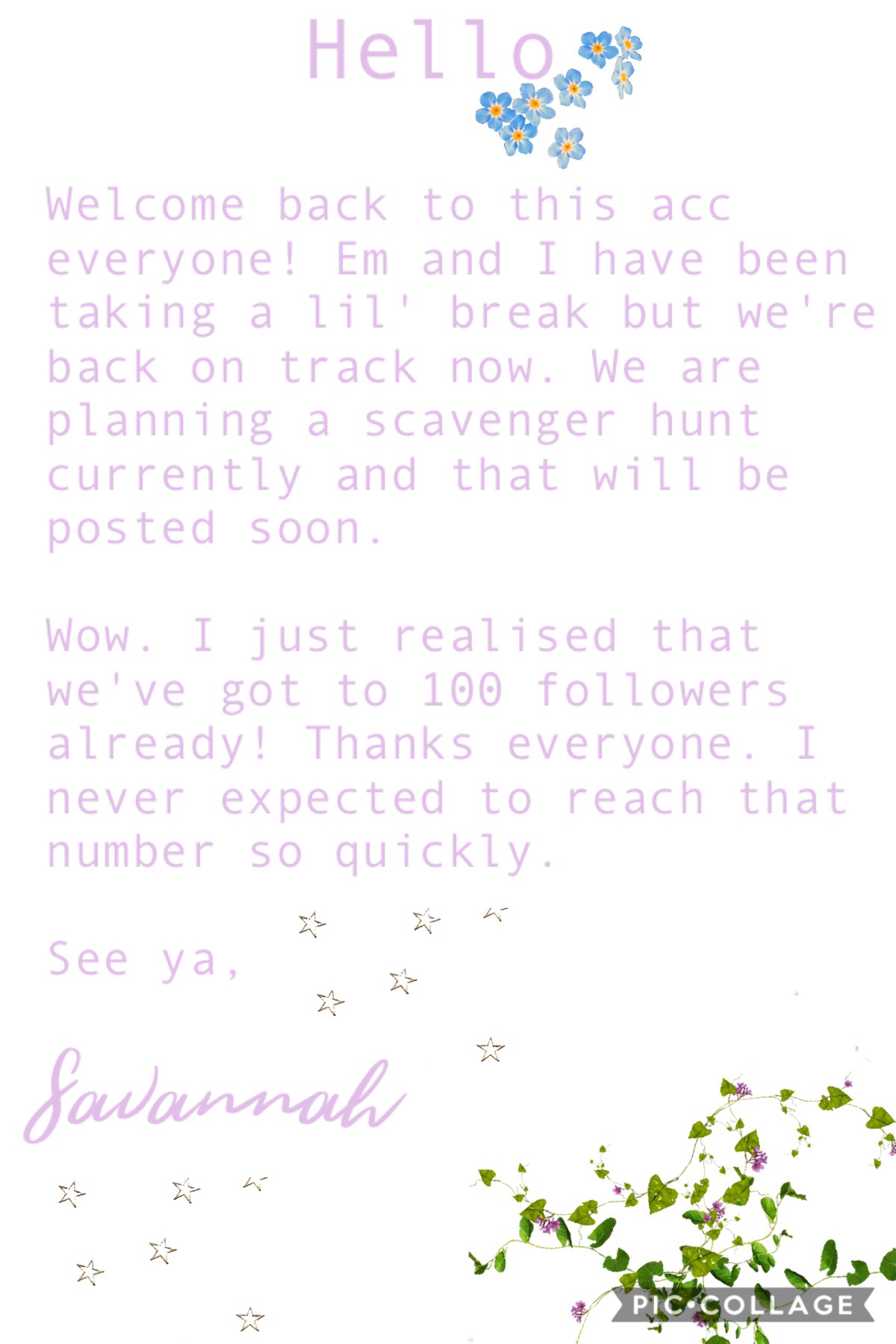 hi everyone ⚡️ em + I took a little break but we're back now// sav 🍃