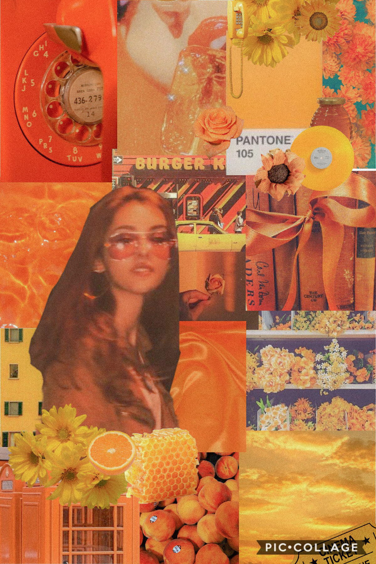 ☄️tap☄️  here is a late night yellow/orange collage!  hope you like it! 8/22/20