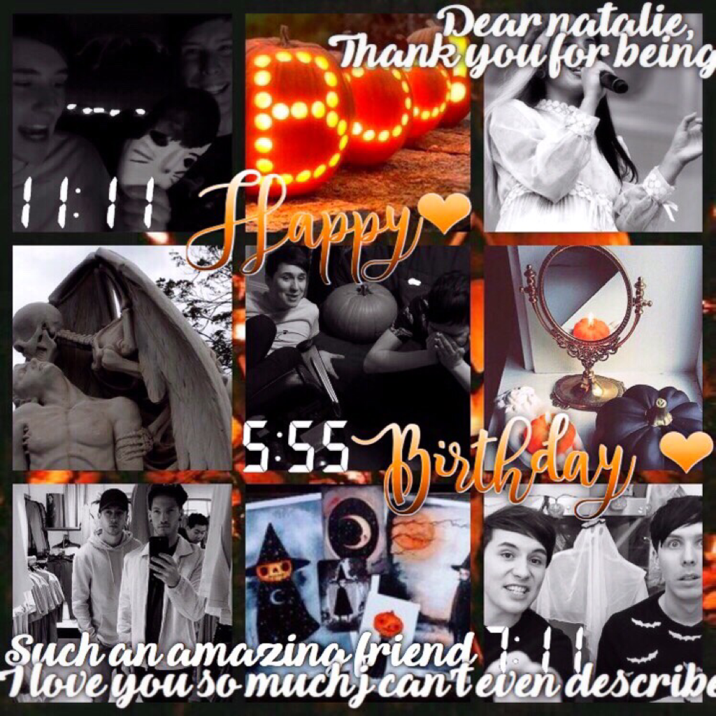 HAPPY BIRTHDAY THE TO BEAUTIFUL GORGEOUS AMAZING AND EVERYTHING ABOVE NATALIE!!! (@whiskered_fright) ILYSM AND HAPPY BDAY STAY AMAZE!!✨✨❤️(I'm not gonna put a paragraph in the comments bc your not active I'll text it to you lol)