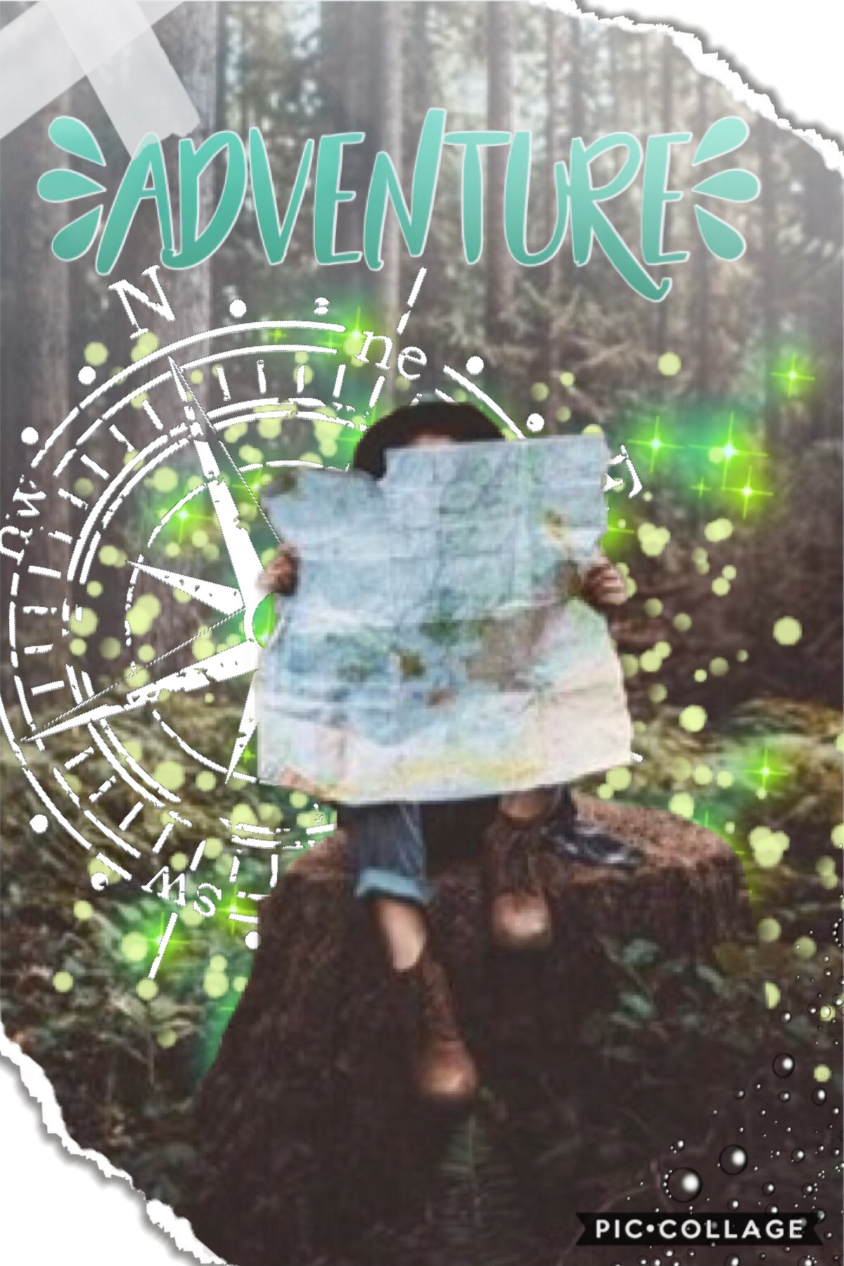 🗺🍀tap🍀🗺    'Adventure'  Hi there! Hope you're all having a good day! I finally figured out how to do ombré text!! Wow, I'm late to the party 😂 I hope you all like this, I just LOVE the picture, and I'm pretty happy with how it turned out. ❤️