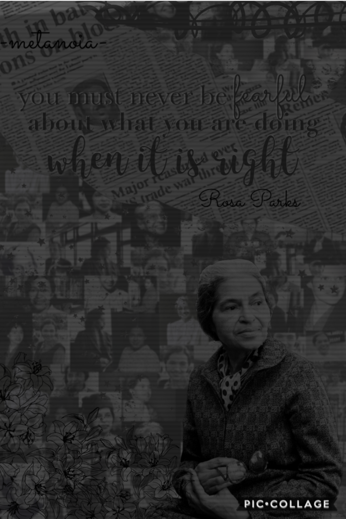 ✊🏿tap✊🏿 This is my Rosa parks collage for ocean's black history month series (go follow her bye she's super sweet). Next up is euph0ria. check remixes for a little information thingy ocean made ☺️