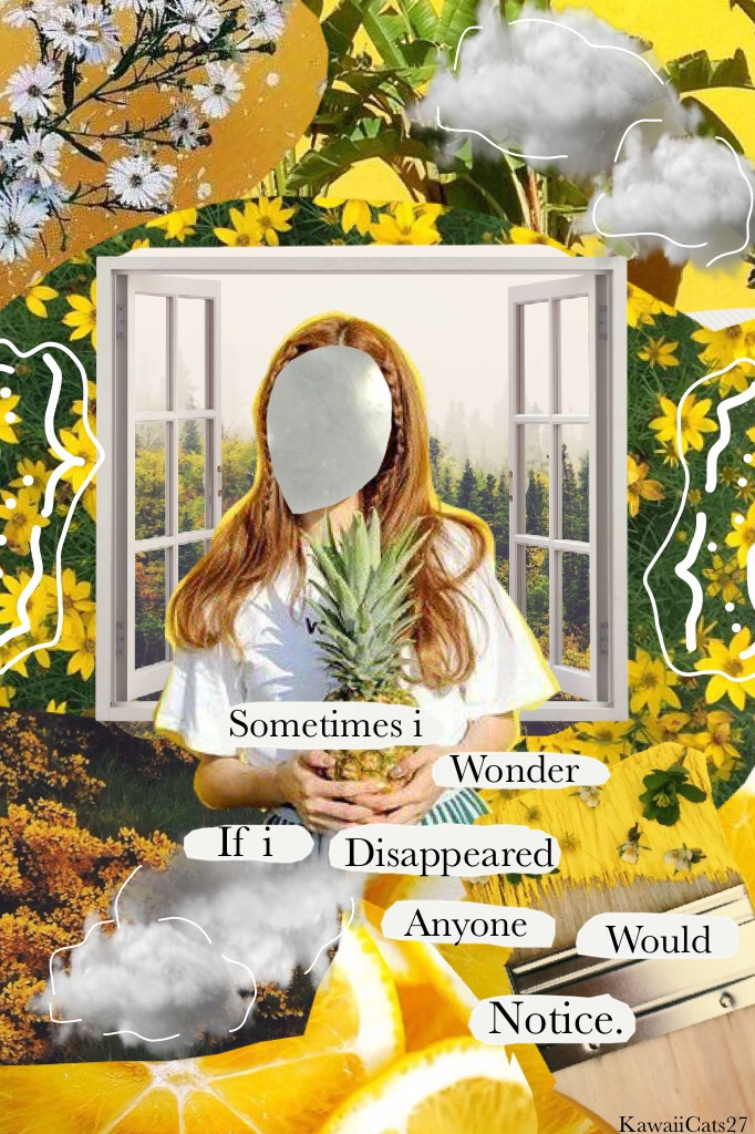 🌻Tap🌻 I wonder this quite frequently. Collage style inspired by many. QOTD: 🌻or🌹?  Tags: pconly, PConly, quote collage, yellow, aesthetics, png's, complicated edit, collagy, summer, bright, KawaiiCats27,