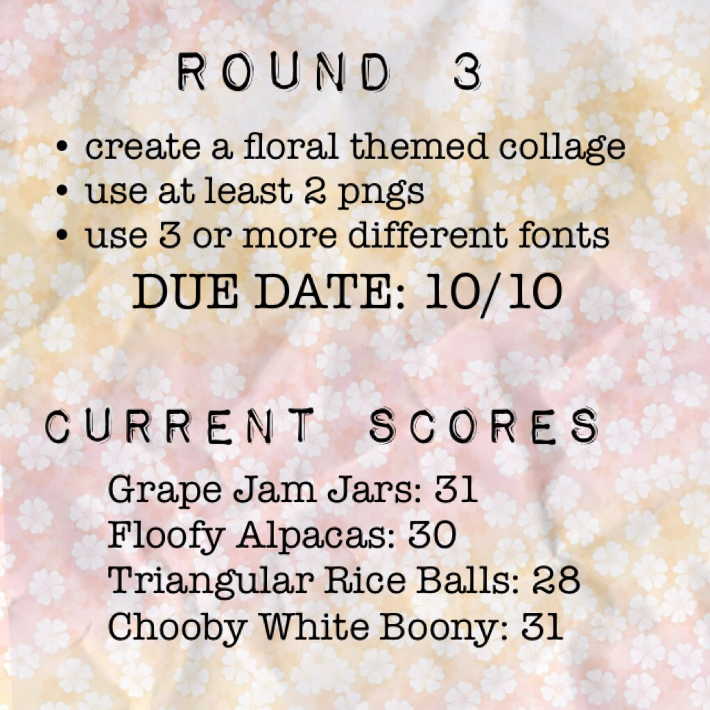 ROUND 3 AND CURRENT SCORES