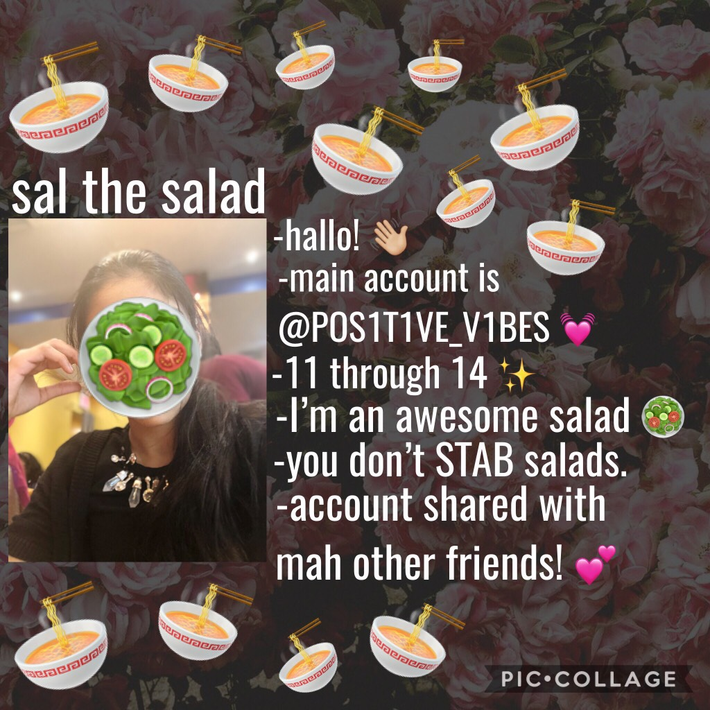 💓Well I guess Mine is way formal 😂 WELL IM AN AWESOME SALAD *flips hair* 💓