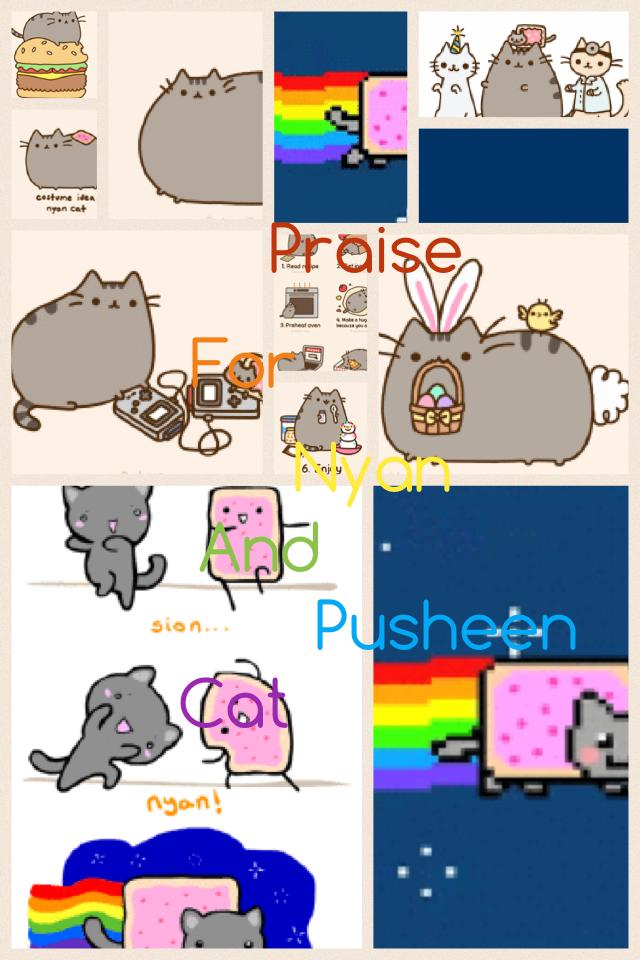 Praise for Nyan pusheen cat😘