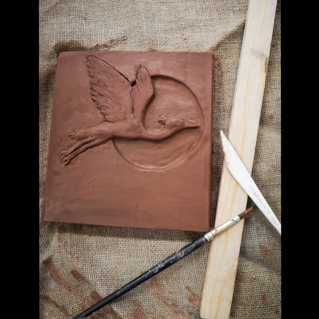 Turns out my old skill of clay manipulating is still there. It's been absolute years since the last I have created something using clay. Here's a Heron.