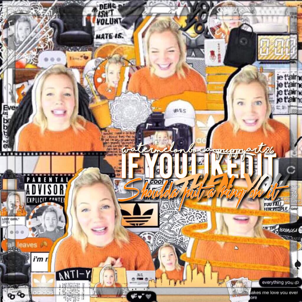 THIS.IS.MY.LAST.COLLAGE.OF.ORANGE.THEME...I love this too much...like seriously why. This is a collab with Sammy ofc😂ILY PLEASE GET BETTER. (Spam her) I am so sore from gym because we HAD TO DO A FIT NESS TEST EJEJEJEJEJEJSME. QOTD: what sports do you pla