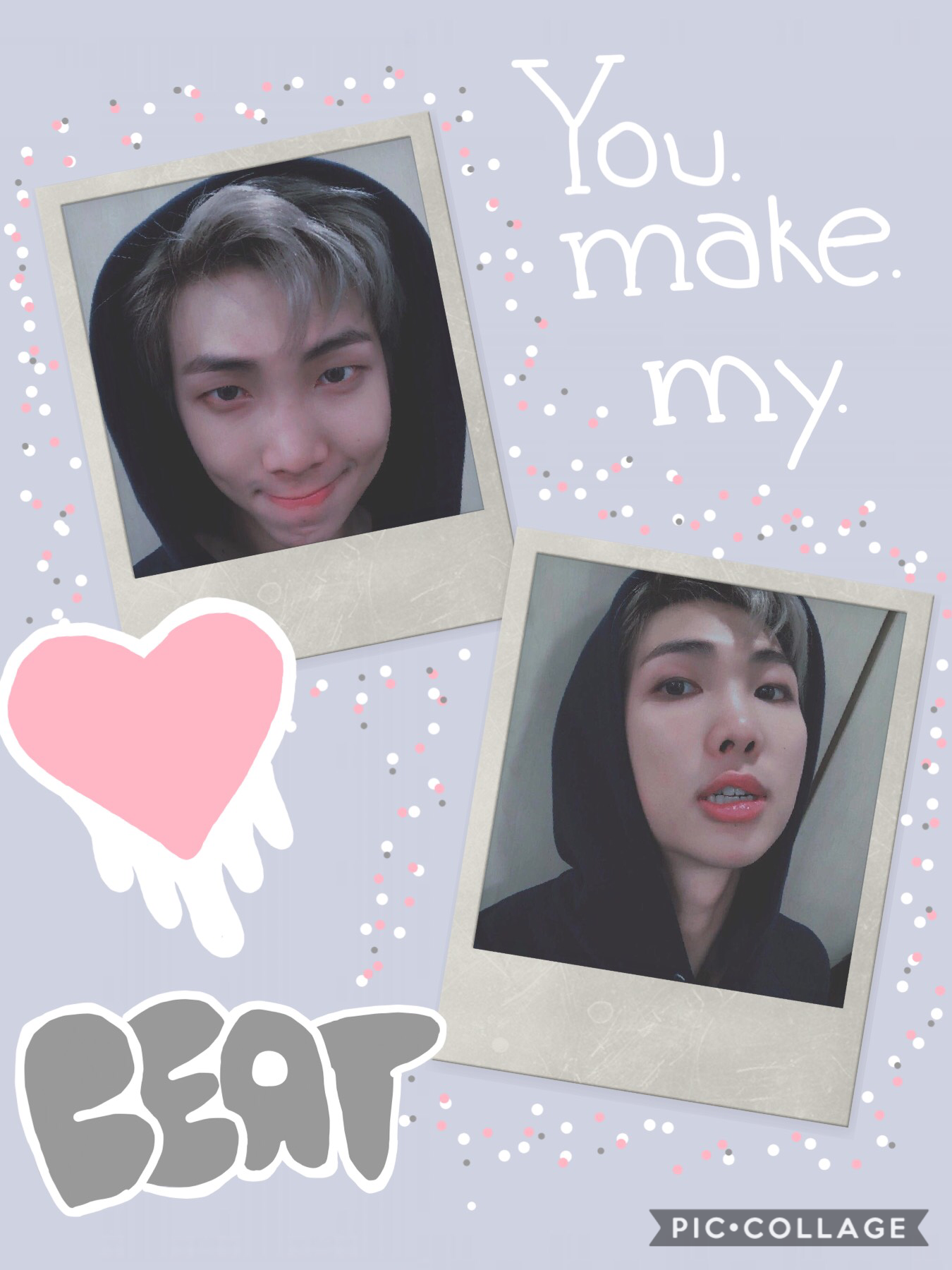 ~🥭~  Tbh, I kinda like this one. It's cute! aND OFC IT HAS NAMJOON IN IT. Also Heartbeat makes me all soft so don't touch me.