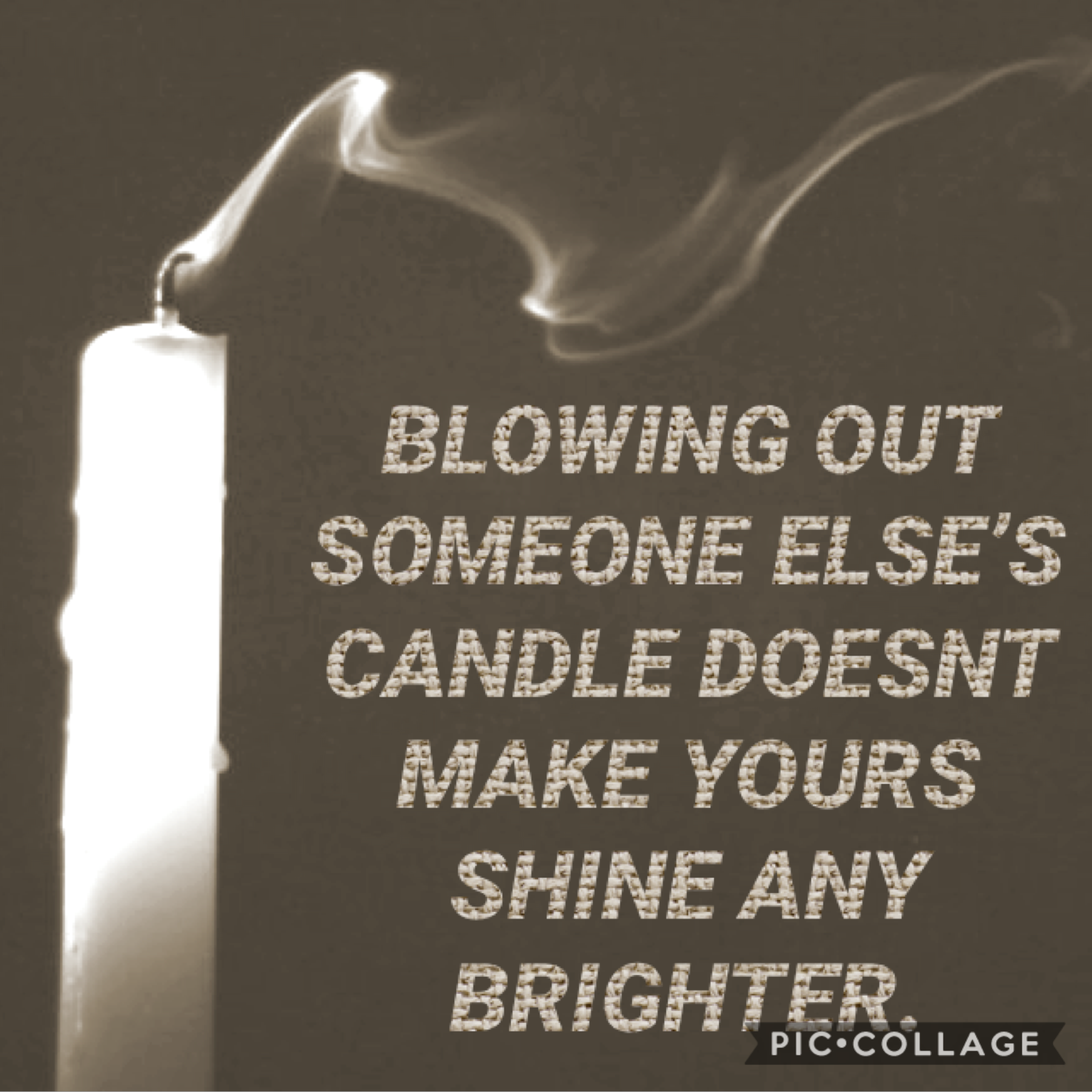 It diminishes your own light.