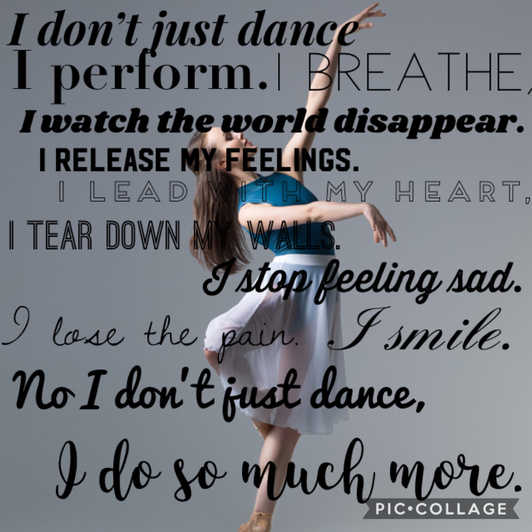 I do 3 kinda of dance: Hip Hop, Jazz, and Tap. I hate it when people say the Dance isn't a sport, like it just doesn't matter. Dance matters so much, dance has help people with anxiety and depression and it's a fun thing to do and if you do it as a sport