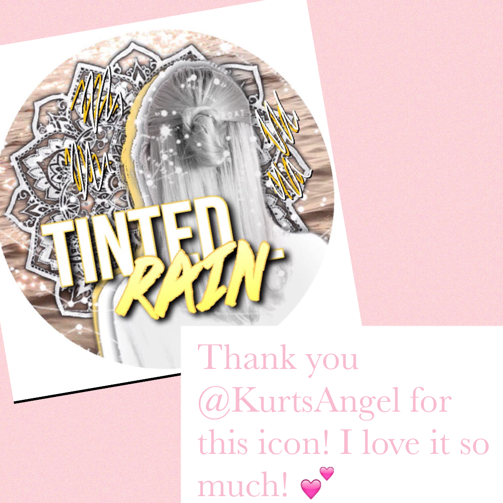 Thank you @KurtsAngel for this icon! I love it so much! 💕
