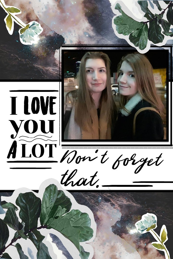 • So I made this for my sister as a part of gift for Christmas and thought I would share it. The picture is me with my sister 😂 so you can guess who I am lol This is kind of like a face reveal...  I have better pictures of myself though😅 •
