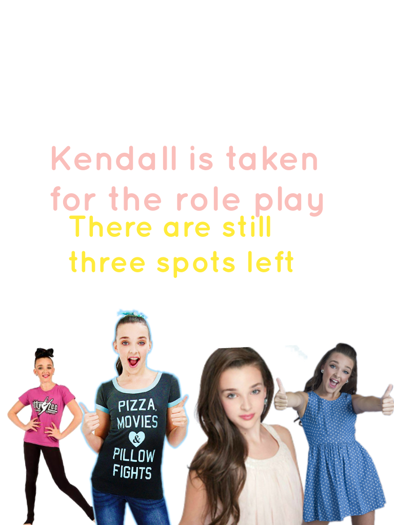 Kendall is taken for the role play