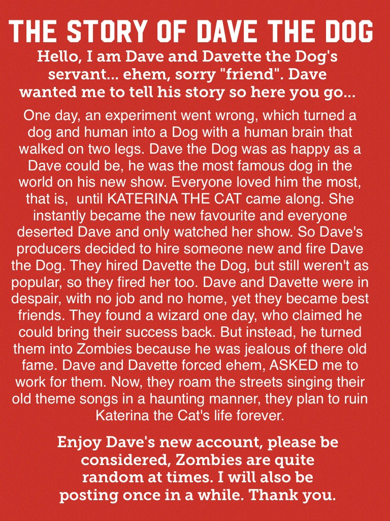 Thank you for reading Dave's story.