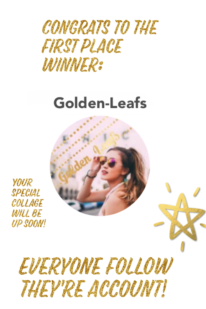 Congratulations to Golden Leafs, the winner of our 2017 collage competition! Everyone follow they're account! @golden-leafs
