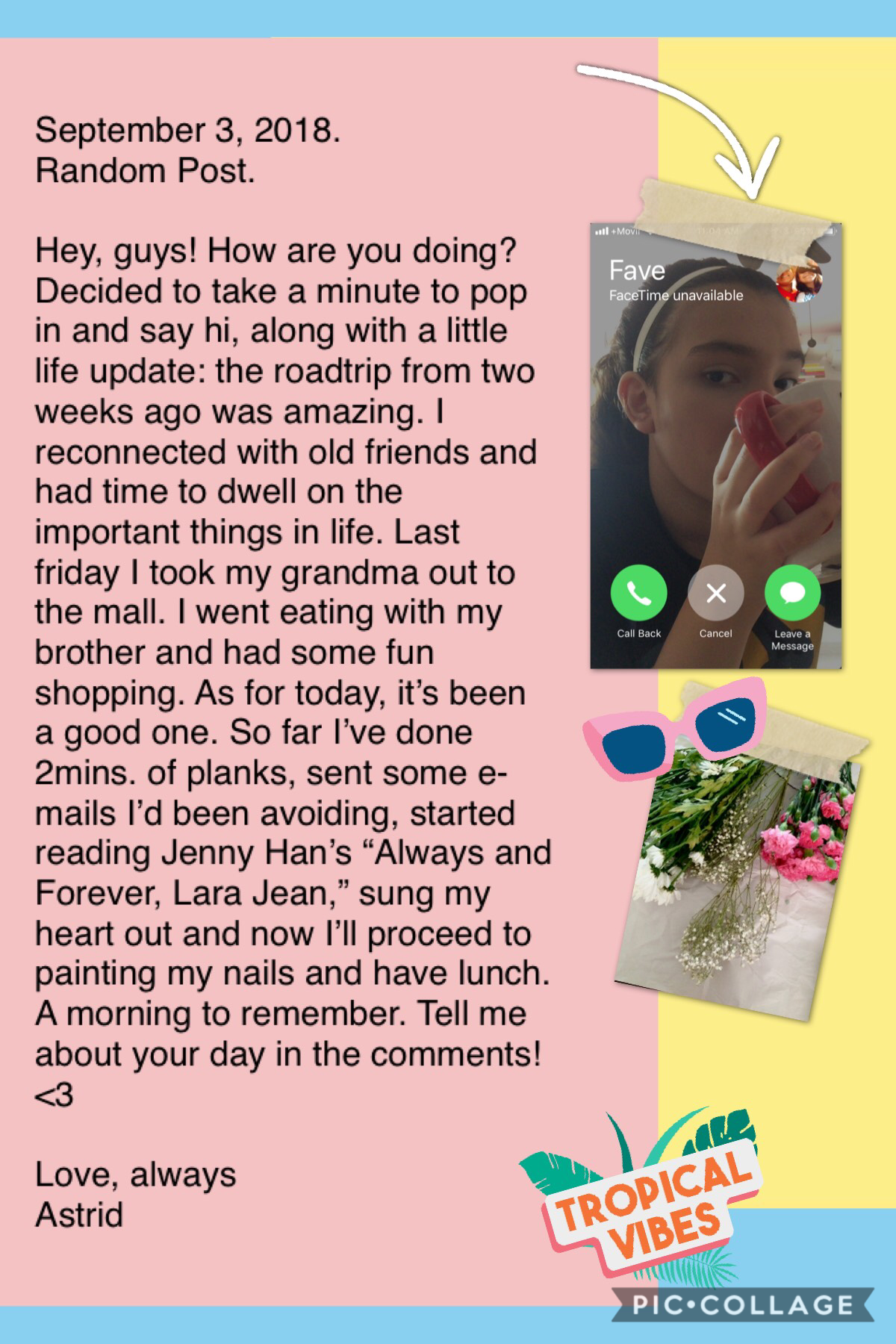 see how julie won't answer my facetime: sad. —pastel background and stickers! am i cute yet 😊😂💕