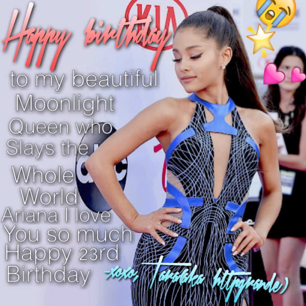 Hb to my dangerous woman😍💕😭💜girl ur twenty three and I'm crying over here cuz u were twenty like yesterday😭🌟💜ilysm stay like this forever-young talented beautiful gorgeous...🙏🌟💕!!!!