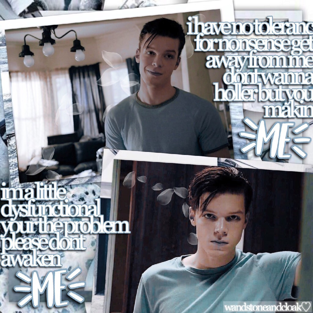 🚿click!:🚿 inspired by @obsessivetbh! 💞 i love ian (from shameless) so much! it's such a good show, too! cameron monaghan is such a good actor i swear! ☺️💓 q//favorite gallagher? a//ian!