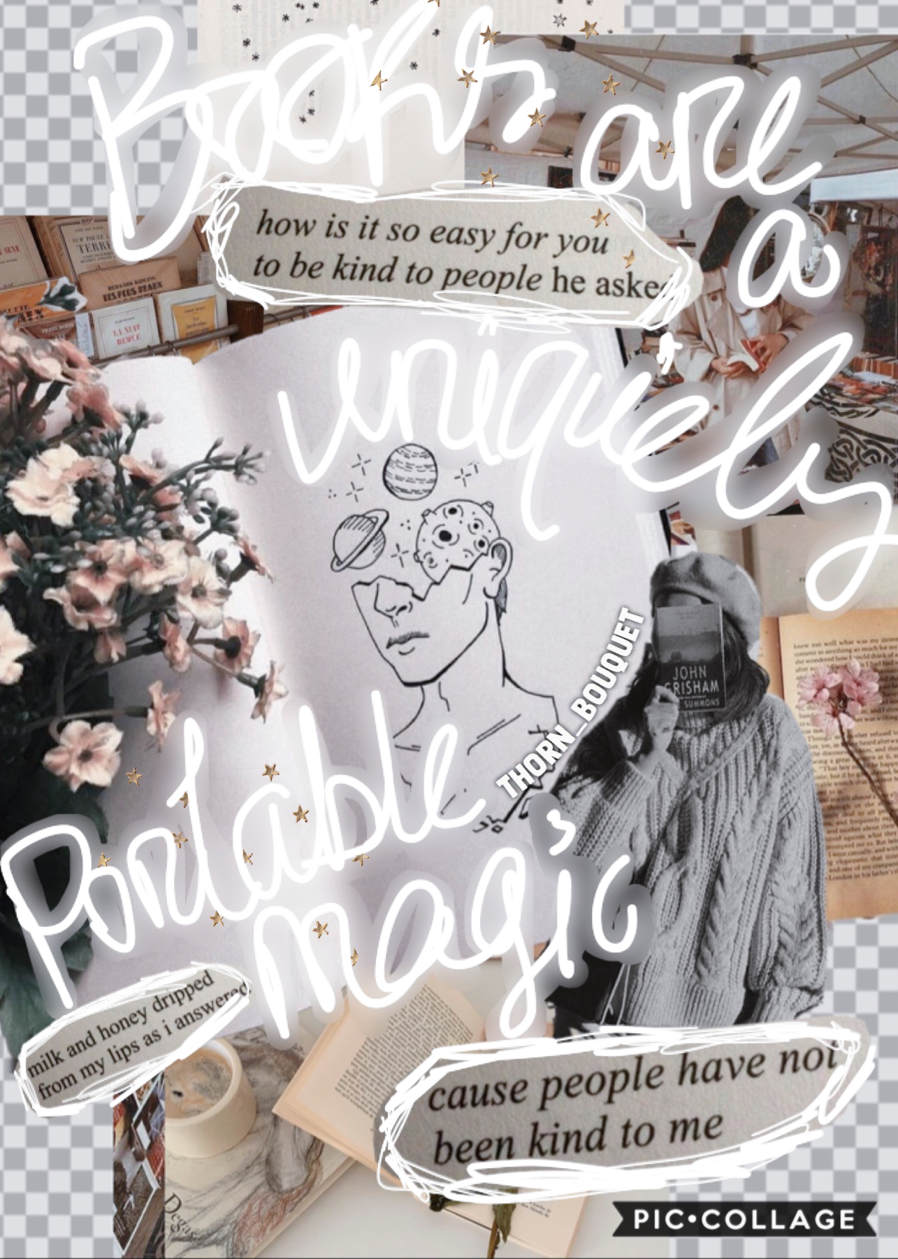 🤍 tappity tap 🔏  eeek I feel like I found my style :)  _agghhh I feel so happi lately I never thought everyone was this friendly on piccollage 💖  QOTD: read or write? 📖