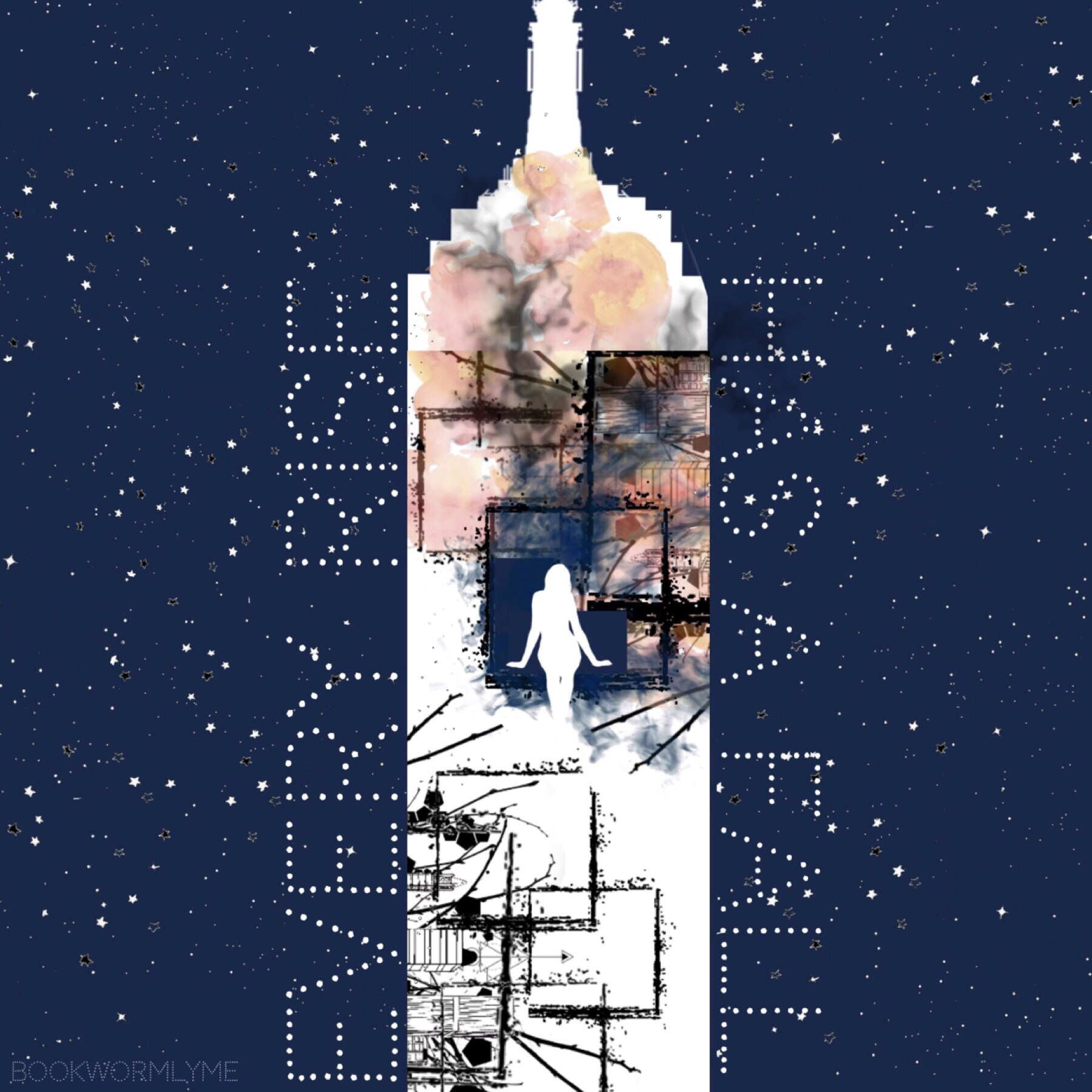 Towering sky by Katherine McGee! Highly recommend this series. Made a collage on the first book so I'll remix that. Bye ❤️