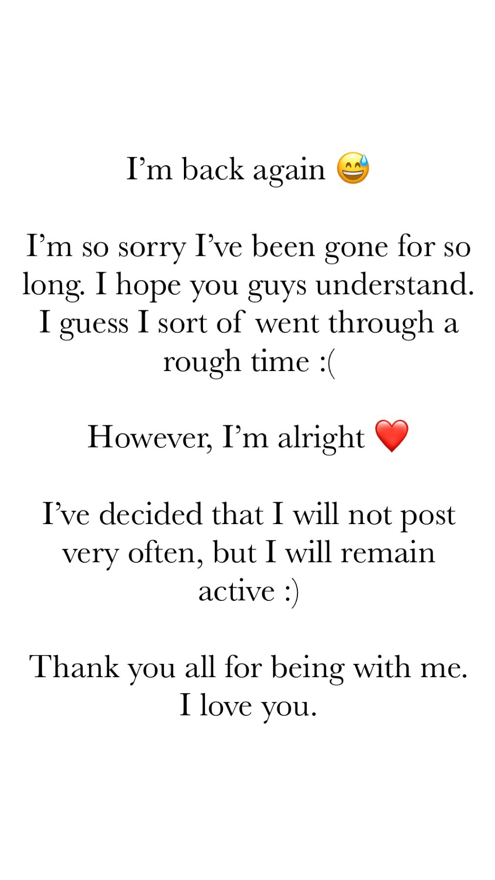 I love you all :) 💕