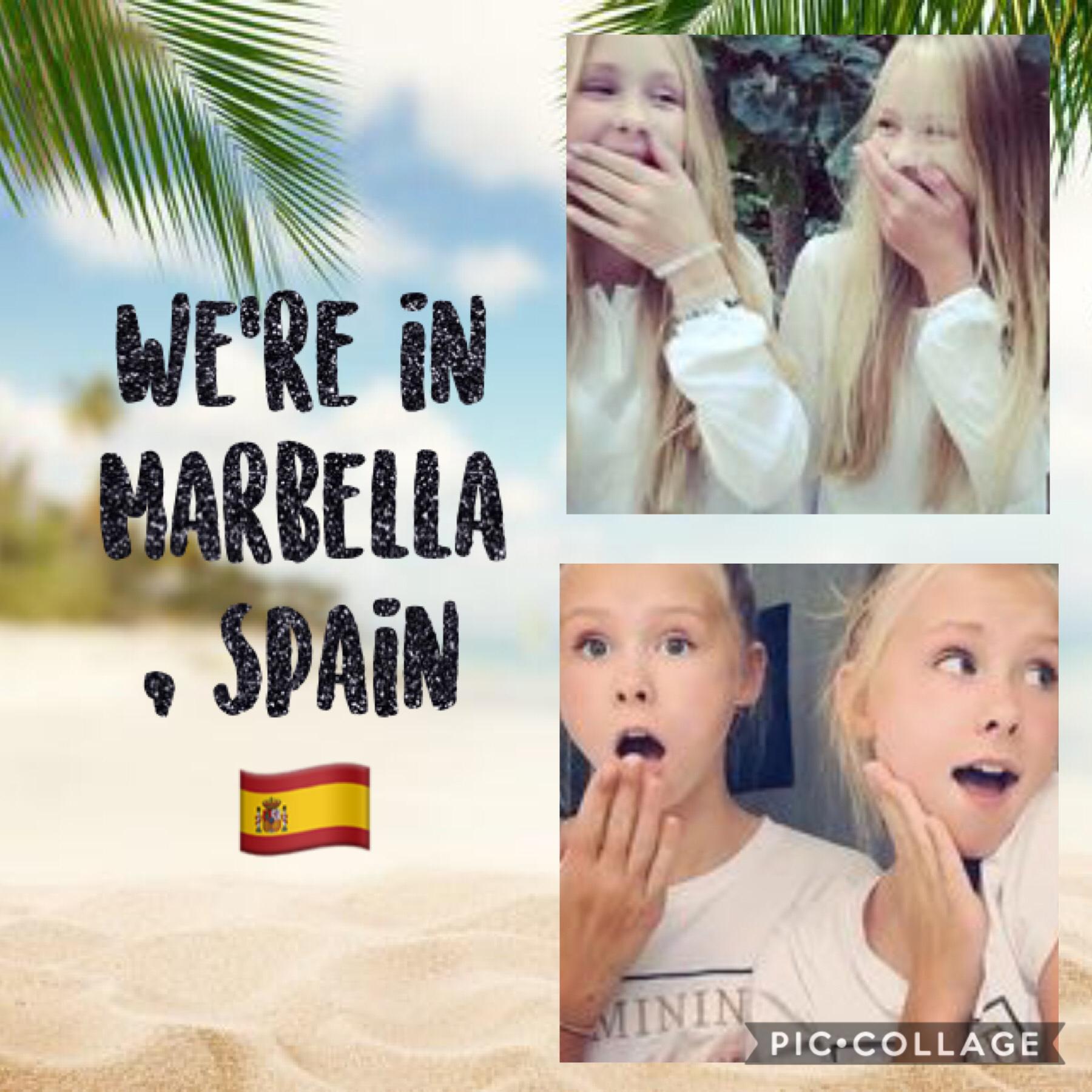 Were on spring break in Marbella Spain 🇪🇸