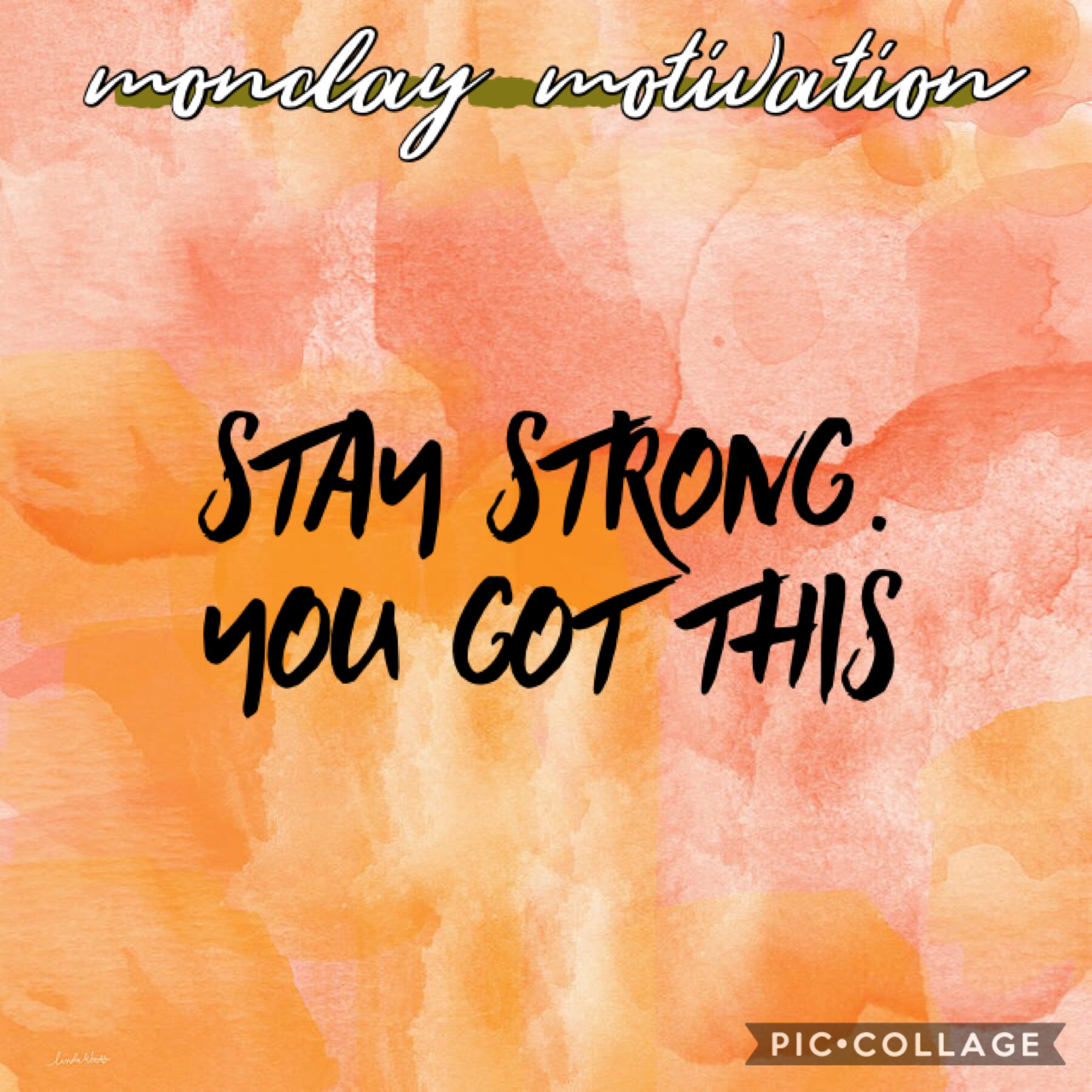 happy monday! just a reminder to stay strong! you can get through anything that's in your way❤️❤️