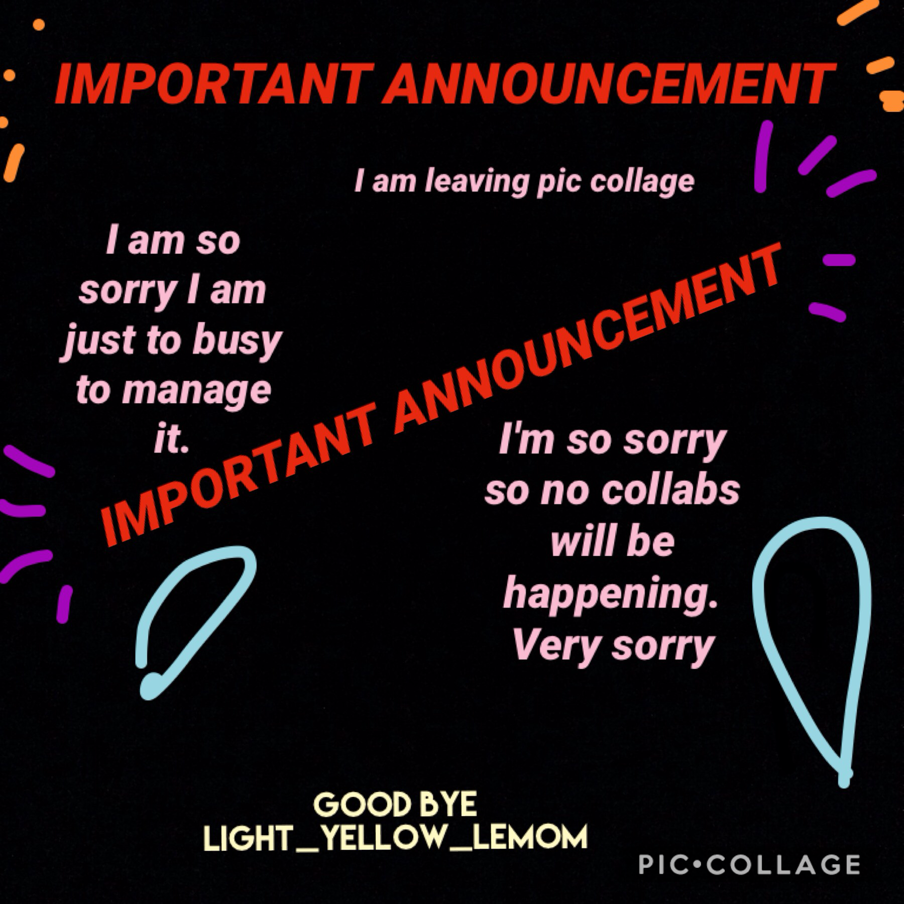So sorry I'm leaving my account will still be up but I will not be active at all