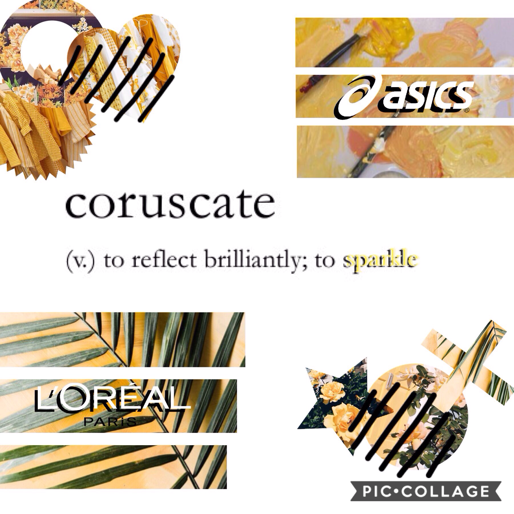 "| coruscate | ""to reflect brilliantly; to sparkle ✨