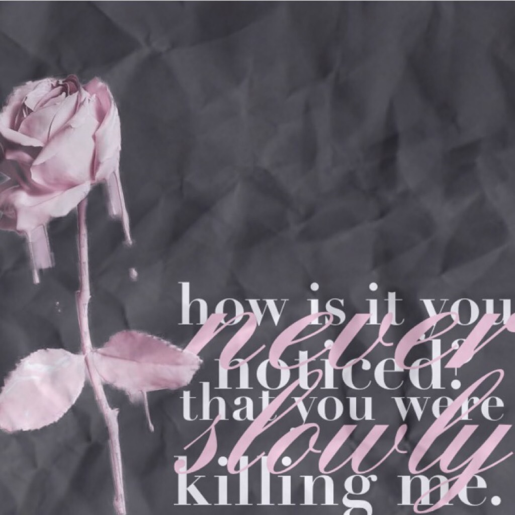"""🌸🖤 1/5 : t a p 🖤🌸 hey y'all. don't worry I'm okay🙃 this is from the song """"I hate u I love u"""" and it's so good💗 please feel free to send me collage ideas, backgrounds, or just anything cause I have no inspo😂 I love y'all so much💓"""