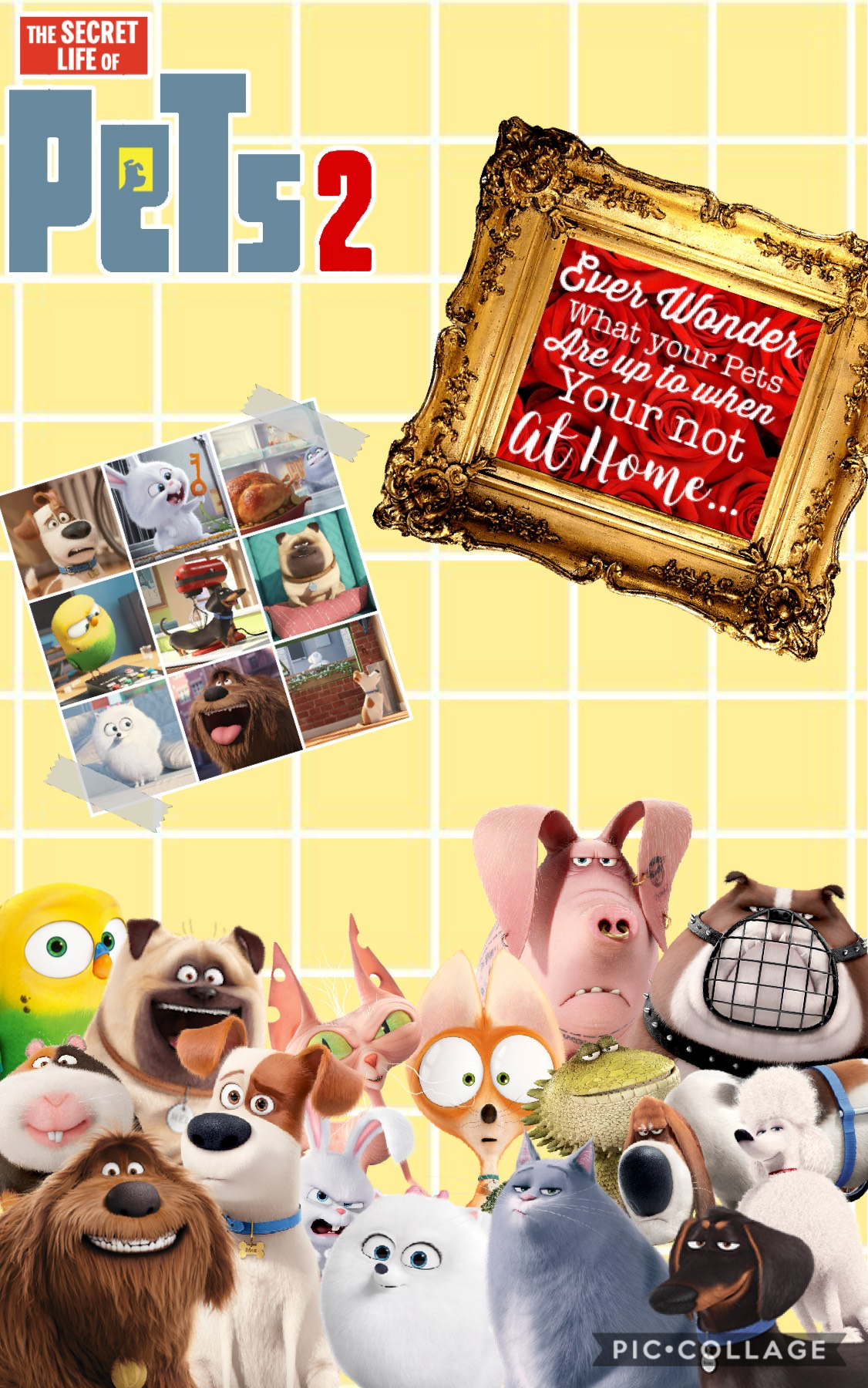 🥳Tap🥳 Next I might do a Toy story one, I might start to do more movie collages. I haven't seen the movie yet but I just thought it would be fun to make a collage of It. Soon I will be doing a post with more info about me!