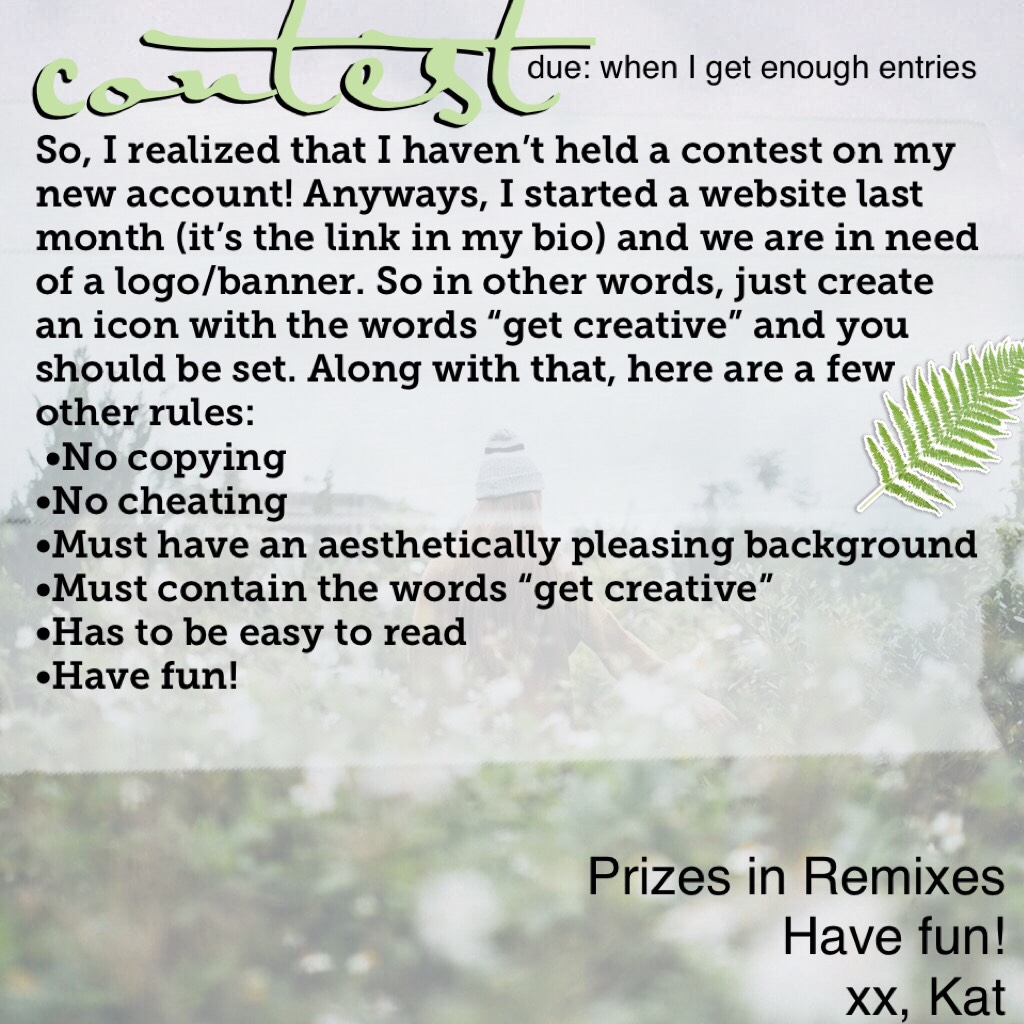 Contest.... Go on and enter!