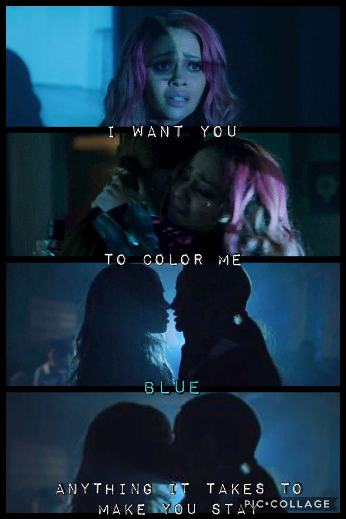 💙choni x lyrics💙  (song: blue by troye sivan)