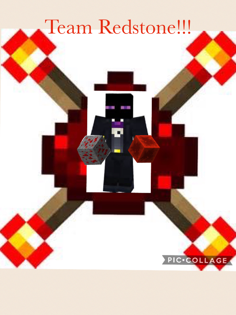 Team Redstone!!! Today is my first time doing an account. Go Redstone!