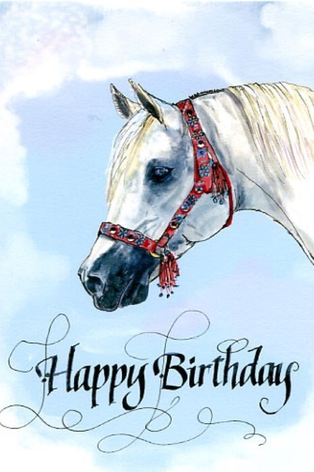 С днем рождения картинки с лошадкой