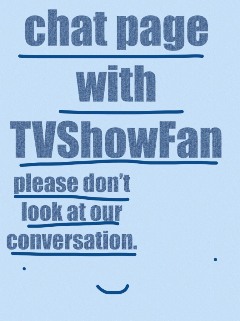 chat page with TVShowFan