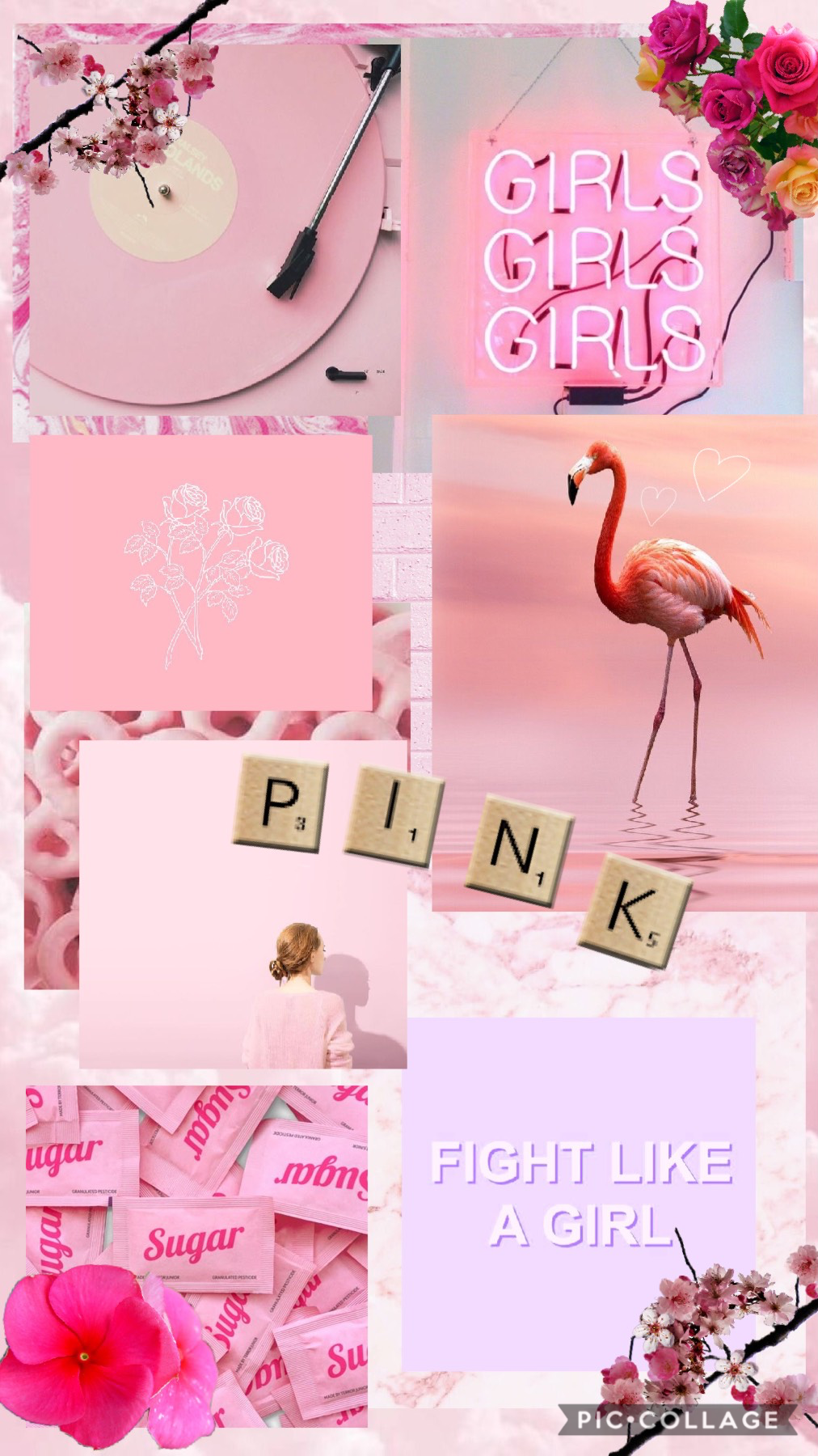 🌸 pink🌸 That's the end of the rainbow theme☹️ I'll do regular collages until I come up with another theme to do