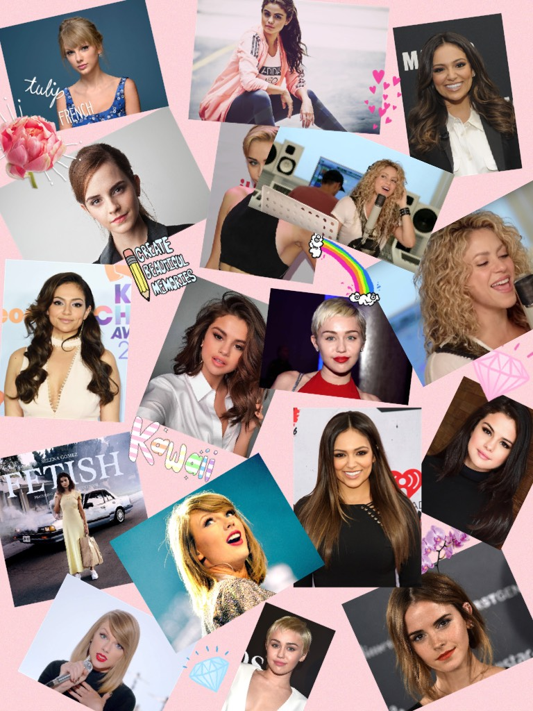 🔮tap🔮 Celebrity's 💎shakira💎💙Bethany mota💙😋Miley Cyrus😋 💗Selena Gomez💗❤️Taylor Swift❤️