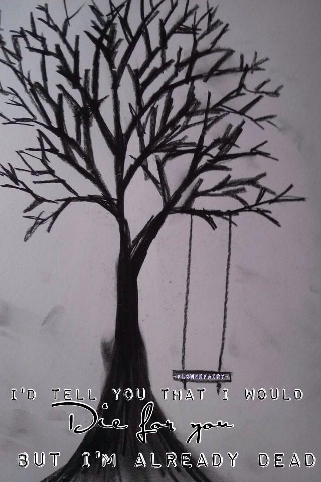 грустное дерево рисунок дизайн под